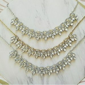 Last One! Cubic Zarconia & Gold Statement Necklace